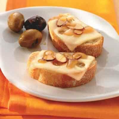 Honey & Almond Swiss-Topped Crostini Image