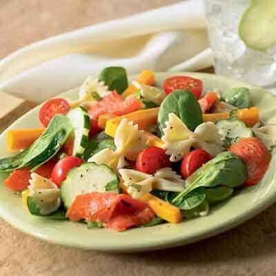 Salmon & Cheddar Farfalle Salad Image