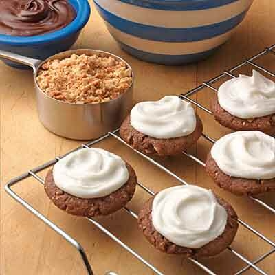 Frosted Chocolate Almond Cookies Recipe