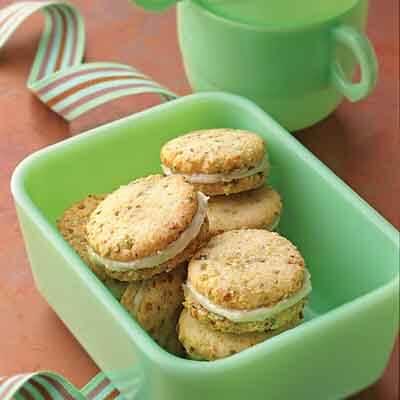 Pistachio Cream Sandwich Cookies Recipe