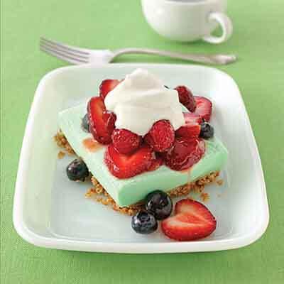Lime Berry Cream Squares Image
