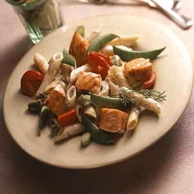 Salmon & Vegetables In Lemon Dill Sauce Image