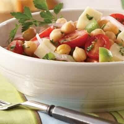 Provolone Garbanzo Bean Salad Image