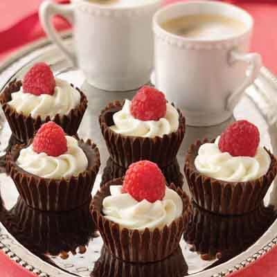 Raspberry Almond Chocolate Cups Image