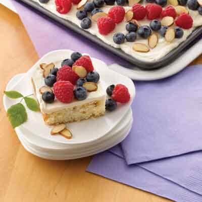 Almond Sheet Cake Recipe