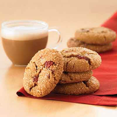 Molasses Cranberry Crinkles Image