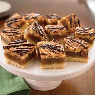 Chocolate Drizzled Macadamia Bars Image