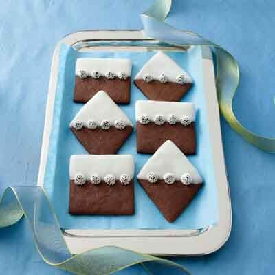 Snow-Capped Chocolate Wafers Image