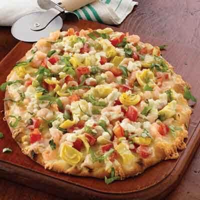 Shrimp Flatbread Pizza Image