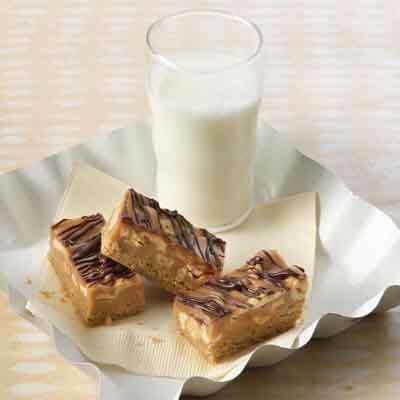 Caramel Nut Peanut Butter Bars Image