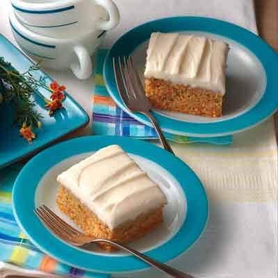 Easy Carrot Cake with Light Butter Frosting