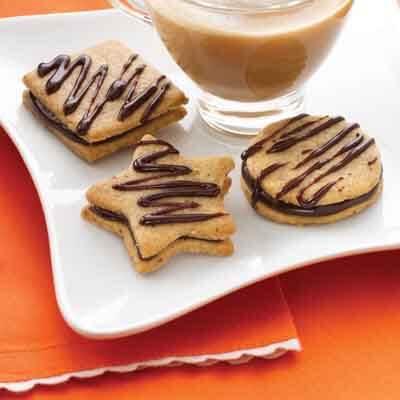 Hazelnut Cappuccino Sandwich Cookies Recioe