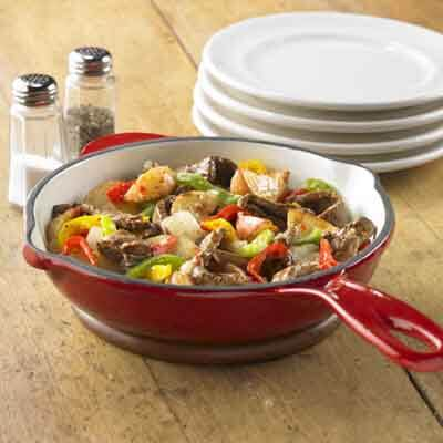 Skillet Beef With Potatoes & Peppers   Image