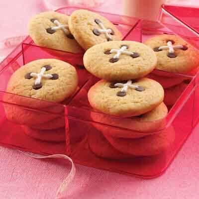 Orange Button Cookies Image
