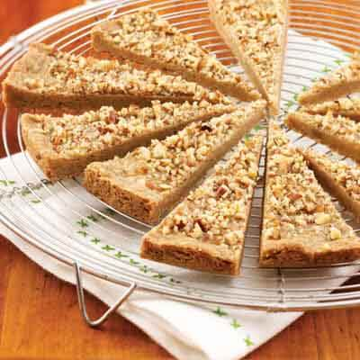 Spiced Pecan Shortbread Wedges Image