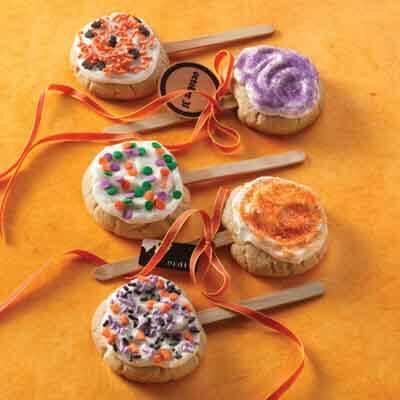 Halloween Butter Cookie Pops Recipe