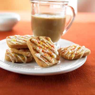 Glazed Chai Shortbread Cookies Image