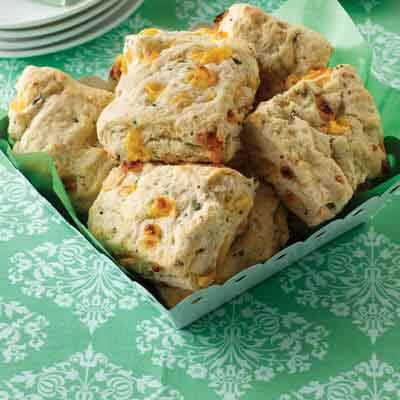Peppery Cheese & Chive Biscuits Image