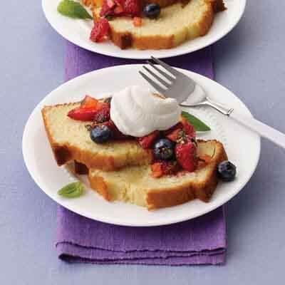 Butter Cake With Mixed Berry Salsa Image