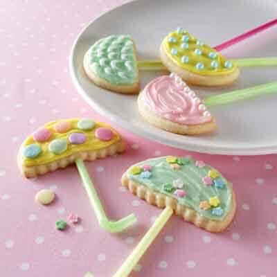 Umbrella Butter Cookies Image
