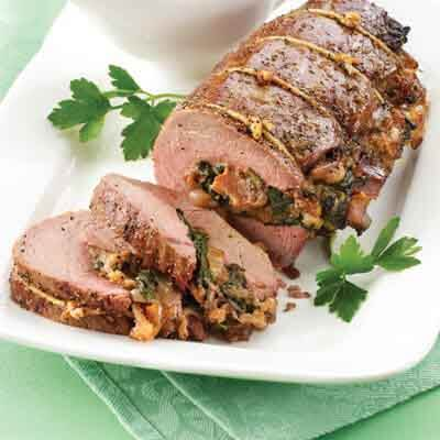 Caramelized Shallot Stuffed Beef Tenderloin Image