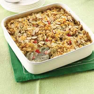Crunchy Green Bean & Red Pepper Casserole Image