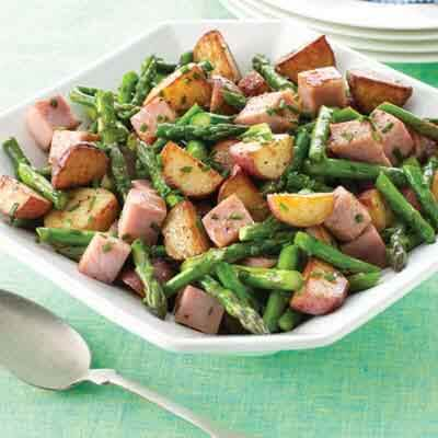 New Potatoes & Ham in Browned Butter Image