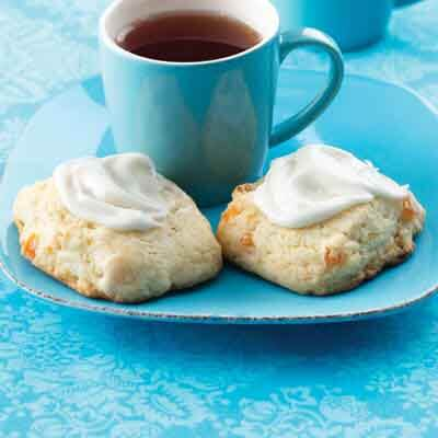 Lemon Glazed Apricot Scones Image