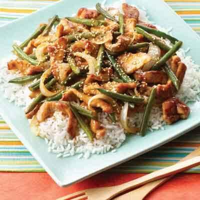 Sesame Pork & Green Beans Image