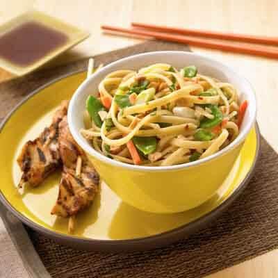 Warm Thai Basil Noodles