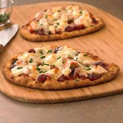 BBQ Turkey Flatbread Pizza Image
