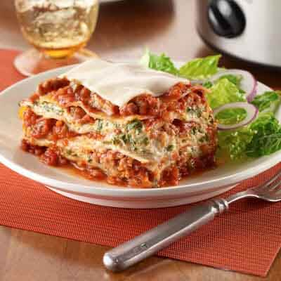 Slow Cooker Lasagna Image