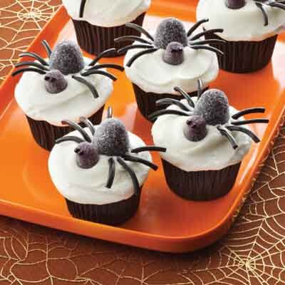 Spooky Spider Cupcakes Recipe Land O Lakes