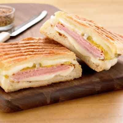 Cuban-Inspired Pressed Cheese Sandwich Image