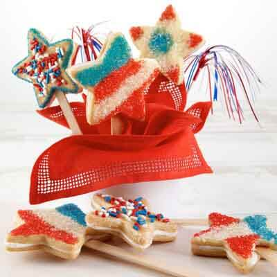 star spangled sandwich cookies