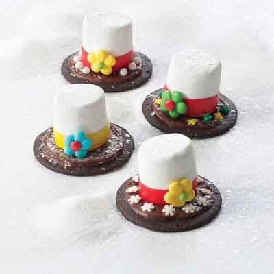 Chocolate Snowman Hats