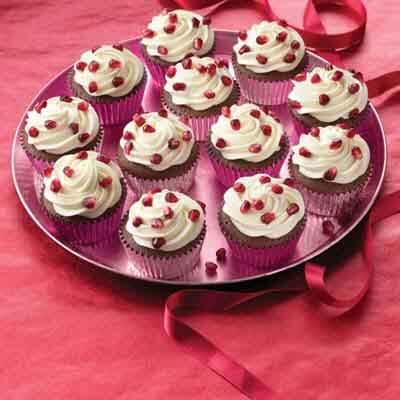 Chocolate Pomegranate Cupcakes Image