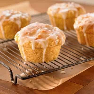 Almond Peach Yogurt Muffins