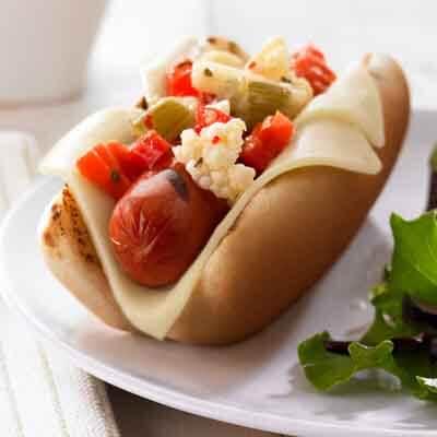 Cheesy Italian Hot Dog Image