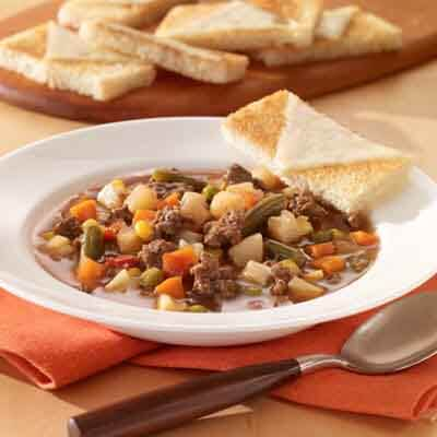 Hearty Beef & Veggie Soup Image