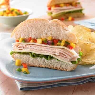Turkey Sandwich with Mango Salsa Image