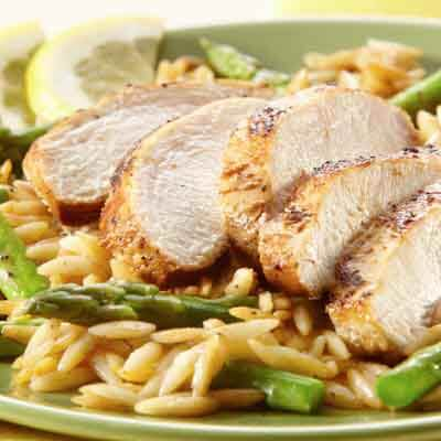 Lemon Pepper Chicken with Orzo Image