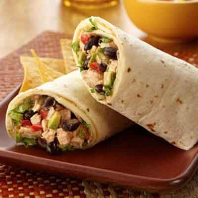 Tex Mex Chicken Wraps Recipe