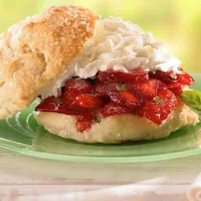 Strawberry Basil Shortcakes Image