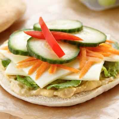 Veggie Cheese Sandwich with Ranch Hummus