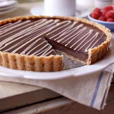 Black & White Chocolate Tart