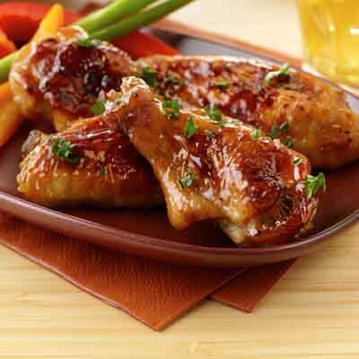 Sticky Balsamic Honey-Glazed Wings Image