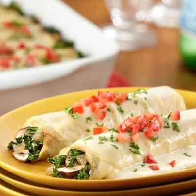 Kale & Mushroom Crepes Image