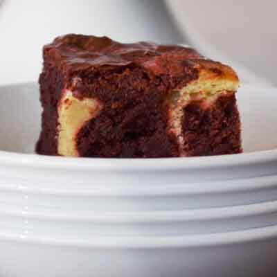 Red Velvet Swirled Brownies Image