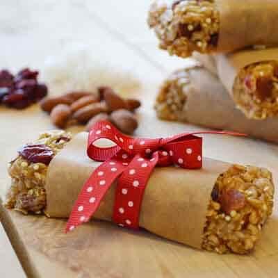 Cherry Almond Quinoa Granola Bars Image